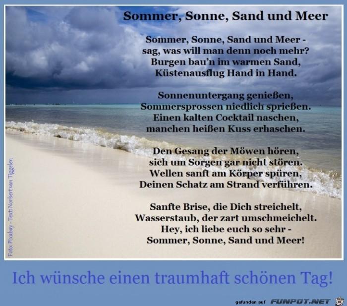 Sonne strand gedicht sommer meer Meer