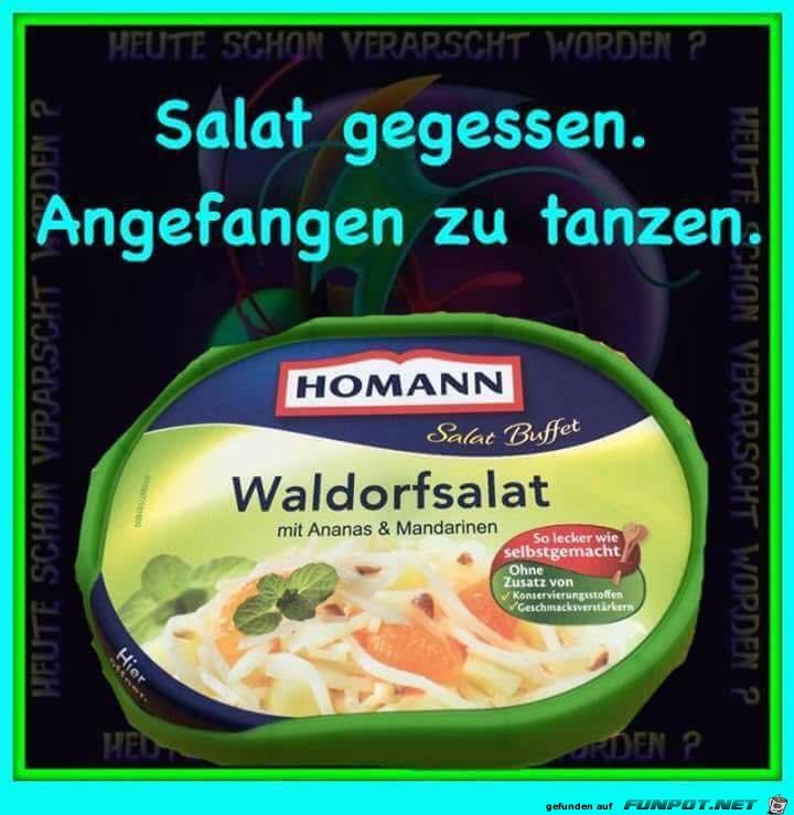 Salat gegessen