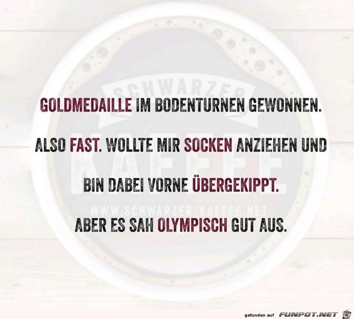 Goldmedaille gewonnen