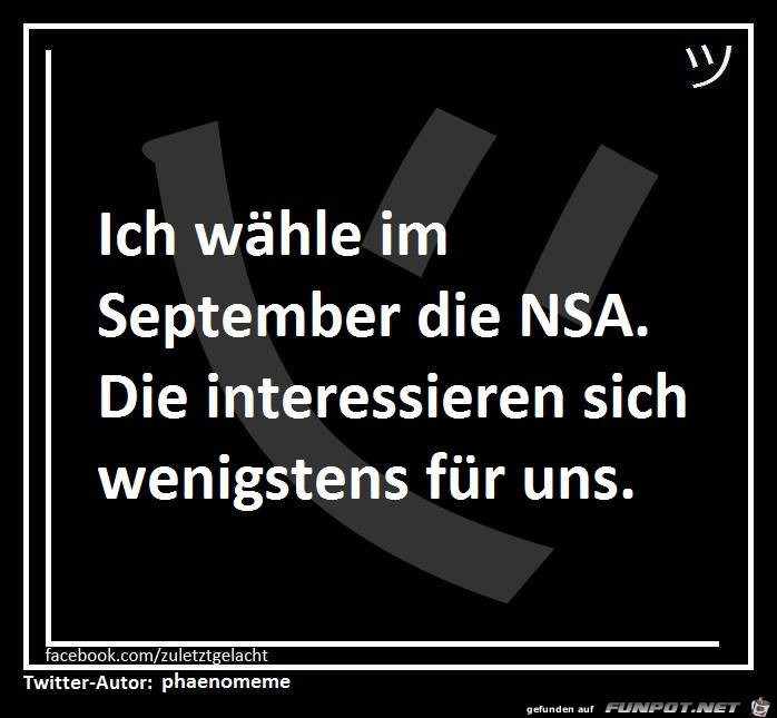Wahl im September