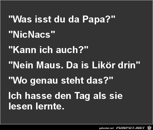 was isst du, Papa?........