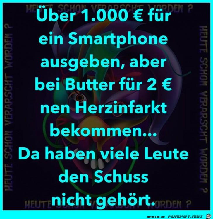1000 Euro Smartphone