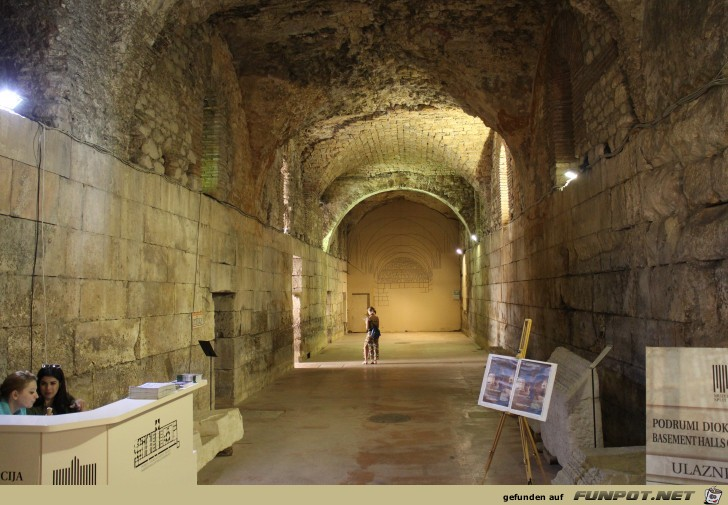 Impressionen aus dem Diokletianspalast in Split