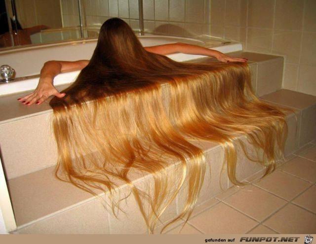 Ziemlich lange Haare