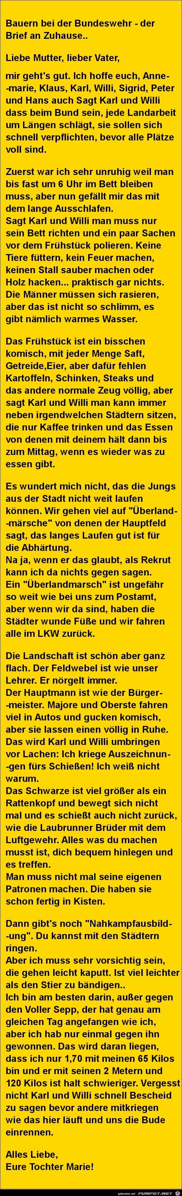 Bauern bei der Bundeswehr.......