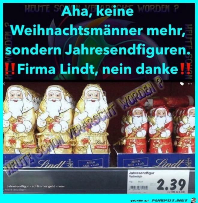 Firma Lindt ist nicht dran Schuld!