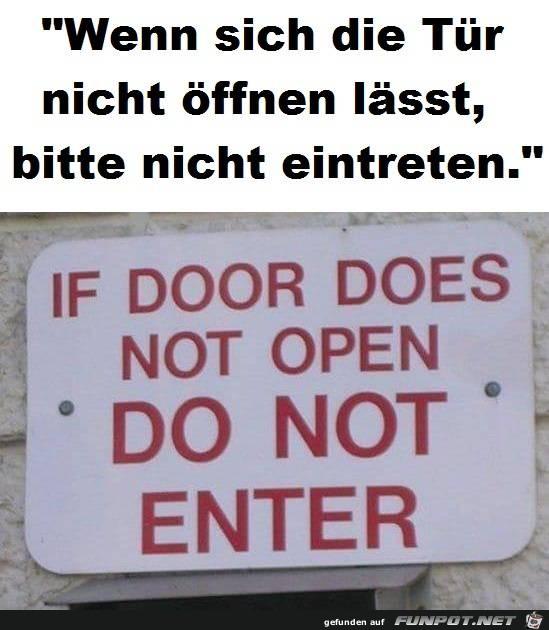 nicht eintreten