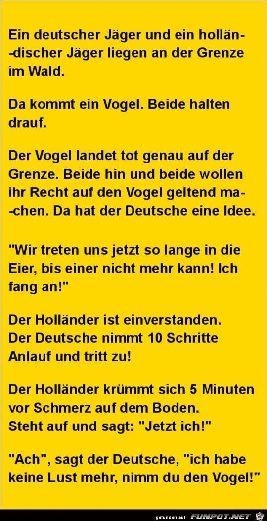 ein deutscher Jäger und ein........