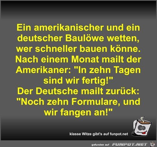Ein amerikanischer und ein deutscher Baulöwe wetten