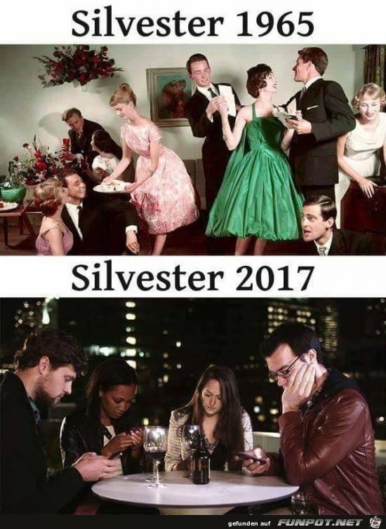 Silvester 1965 und 2017........