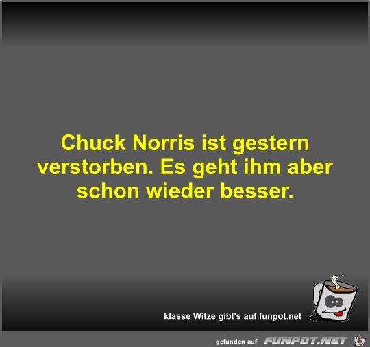 Chuck Norris ist gestern verstorben
