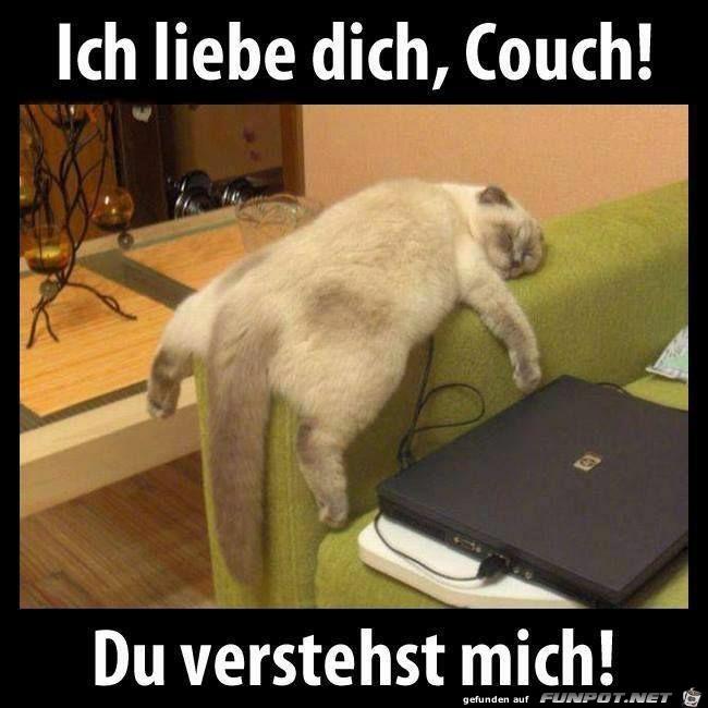 Ich liebe die Couch