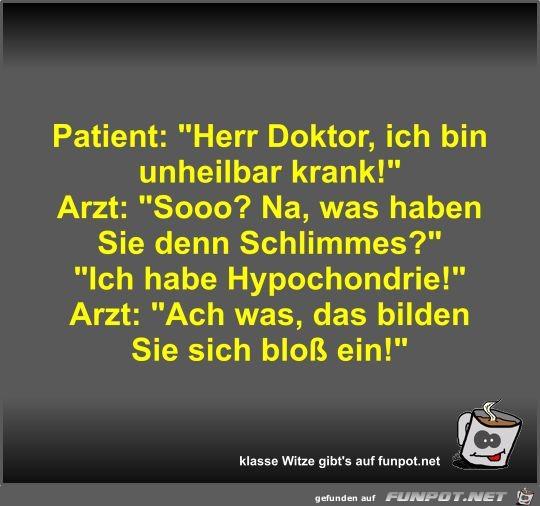 Patient: Herr Doktor