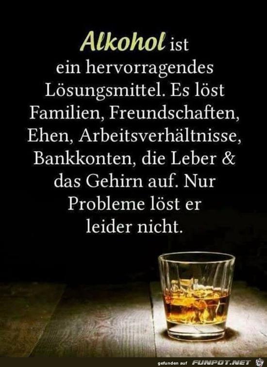 Alkohol ist.......