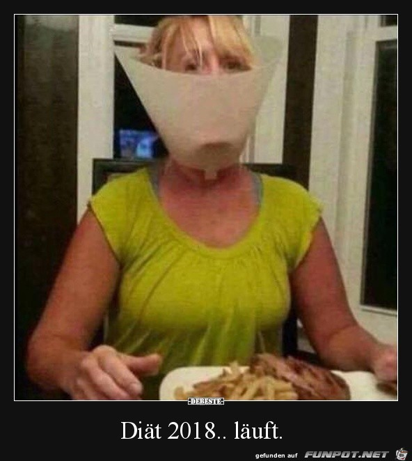 Die Diät läuft