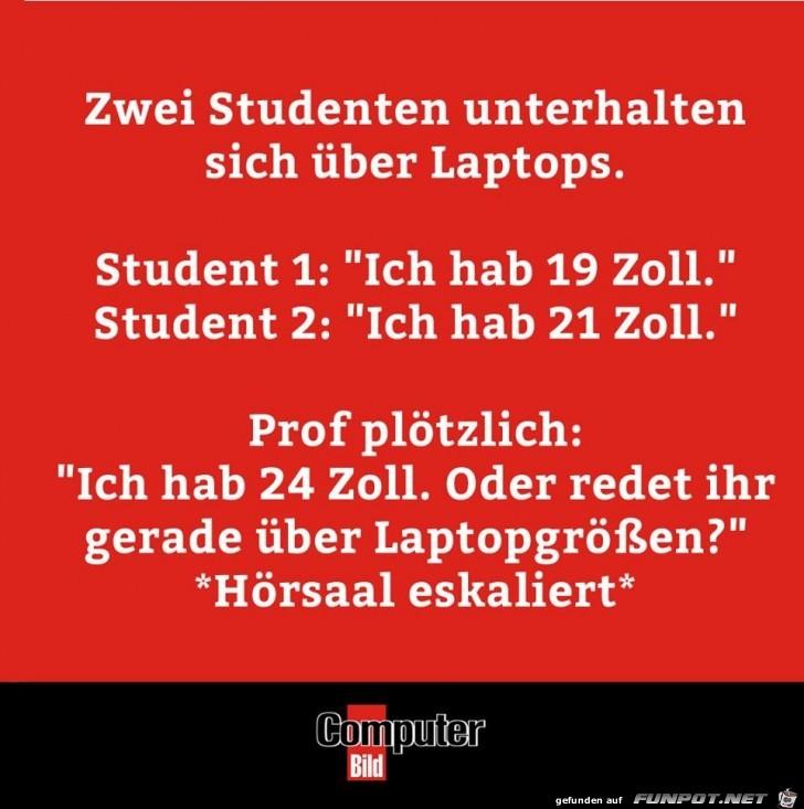 Laptopgrößen in der Uni