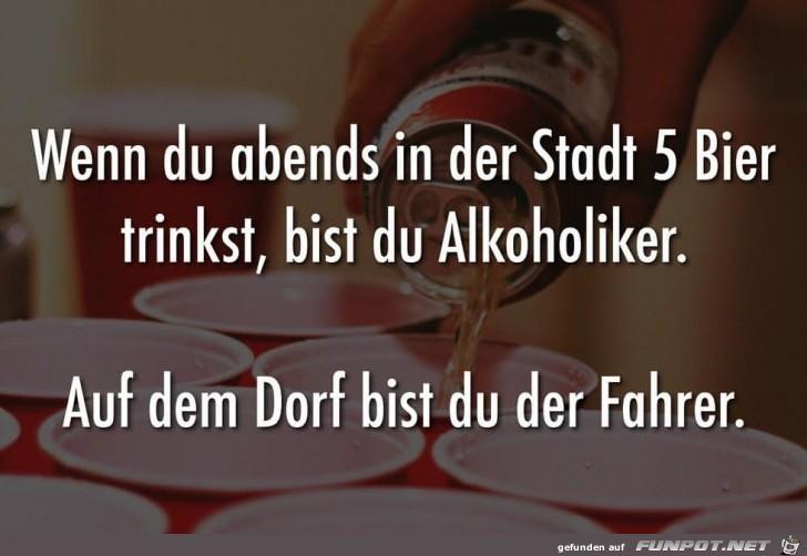 5 Bier trinken