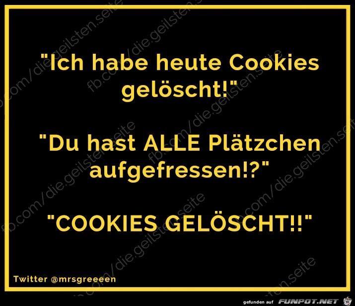Cookies geloescht