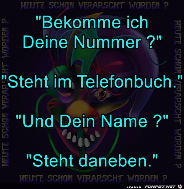 Deine Telefonnummer