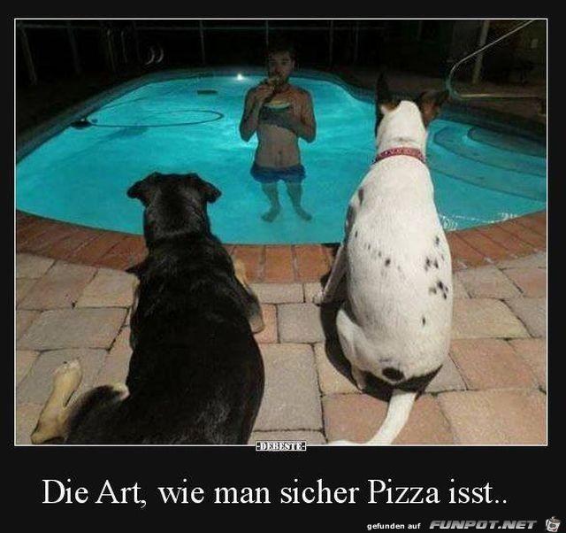 Pizza sicher essen