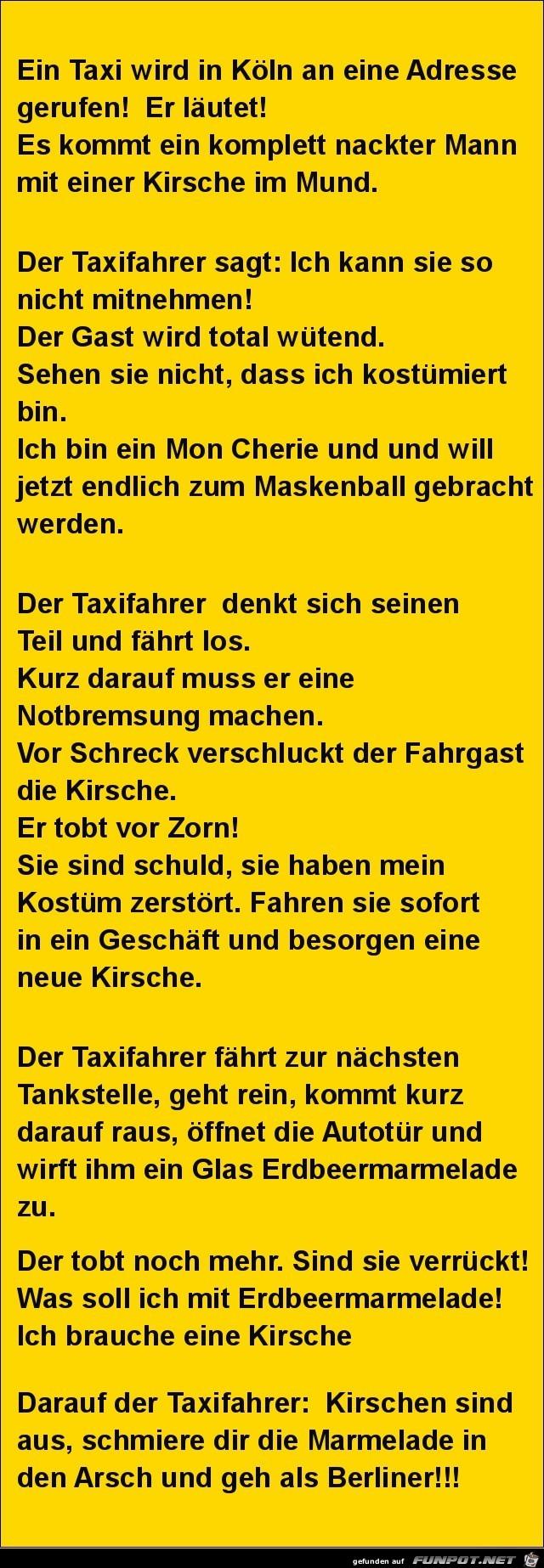ein Taxi wird gerufen.......