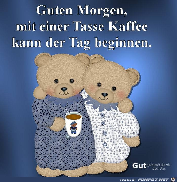 Guten Morgen mit einer Tass Kaffee
