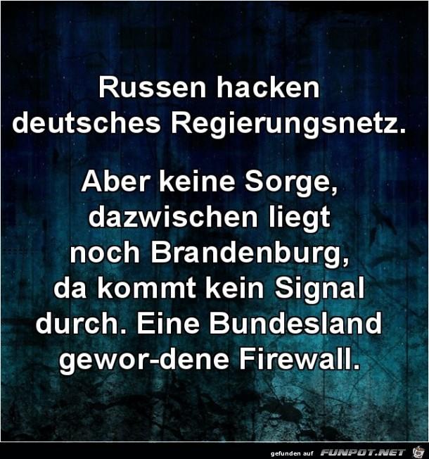 Russen hacken deutsches Regierungsnetz.......