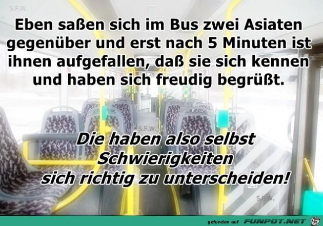 eben im Bus