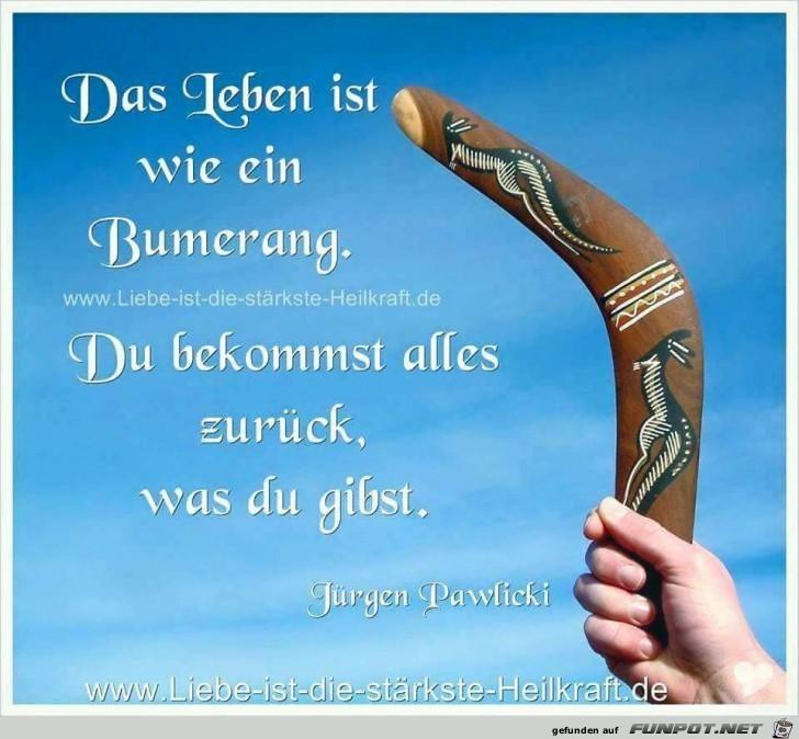 Das Leben ist wie ein Bumerang
