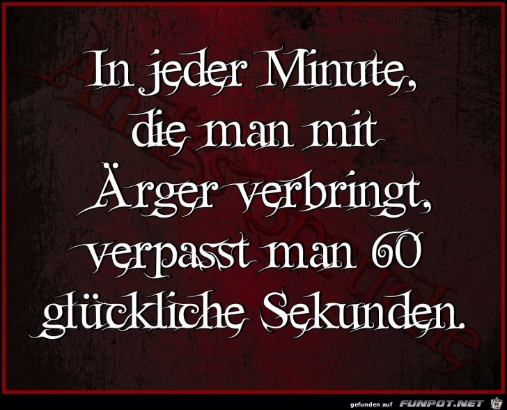 In jeder Minute
