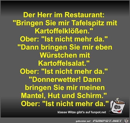 Der Herr im Restaurant