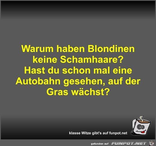 Warum haben Blondinen keine Schamhaare?