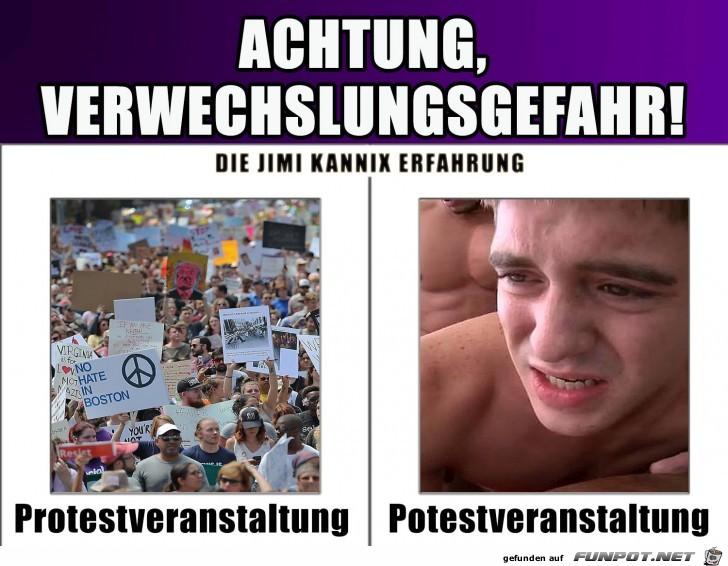 Protestveranstaltung vs. Potestveranstaltung