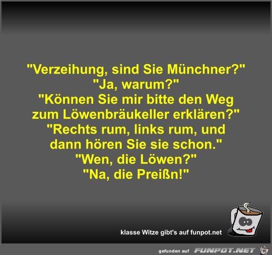 Verzeihung, sind Sie Münchner?