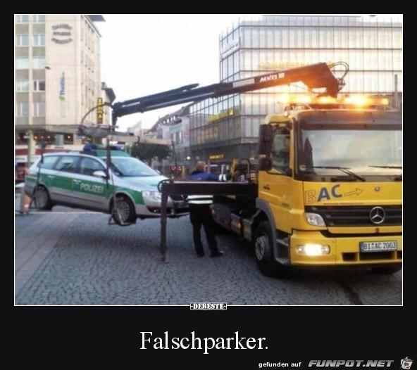 Falschparker.