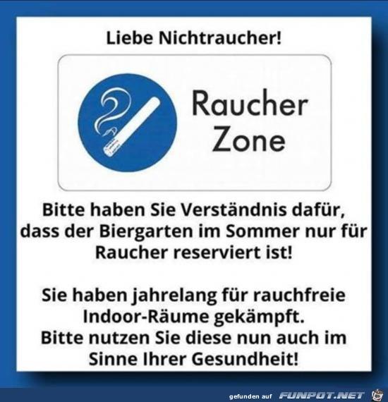 Raucher Zone.