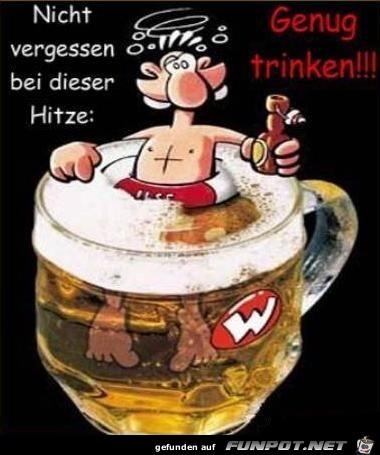 Genug trinken ist wichtig