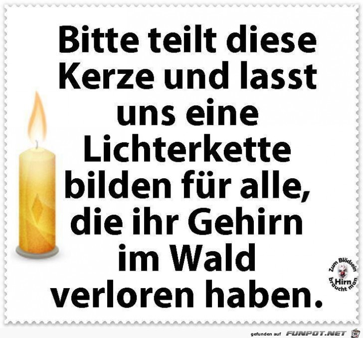 Teilt diese Kerze
