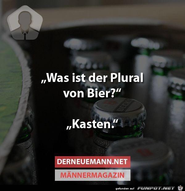 Plural von Bier