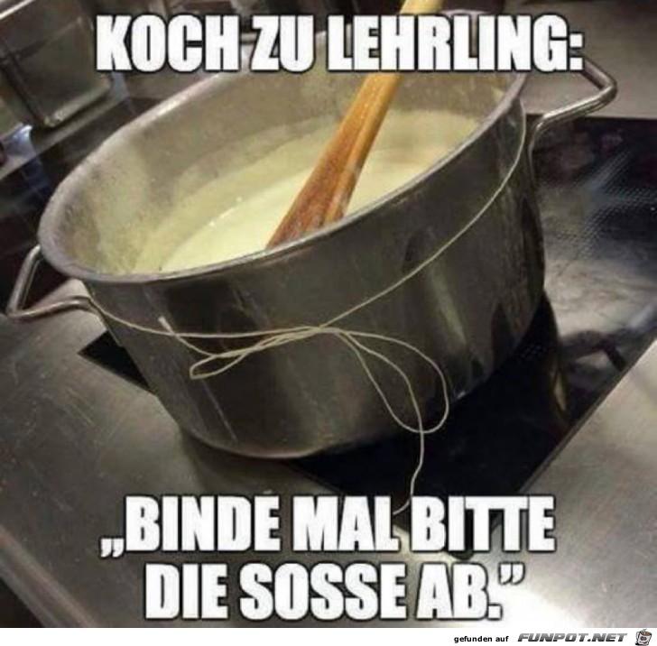 Koch zum Lehrling: