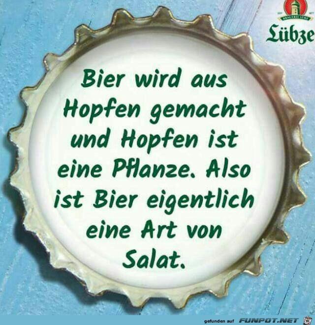 Bier wird aus Hopfen gemacht...