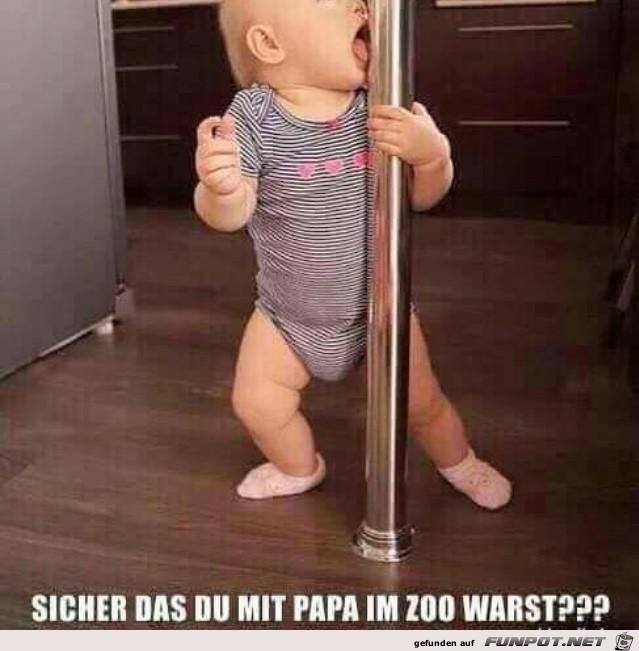 Bist du sicher das du mit Papa im Zoo warst?
