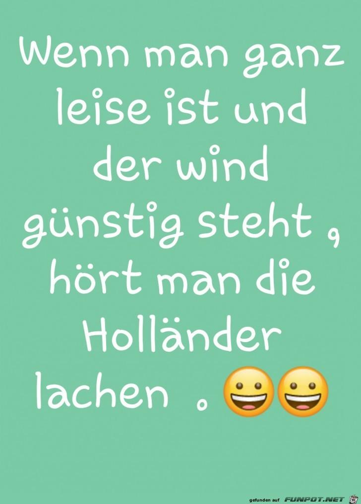 Die Holländer lachen schon