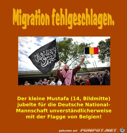 Migration fehlgeschlagen