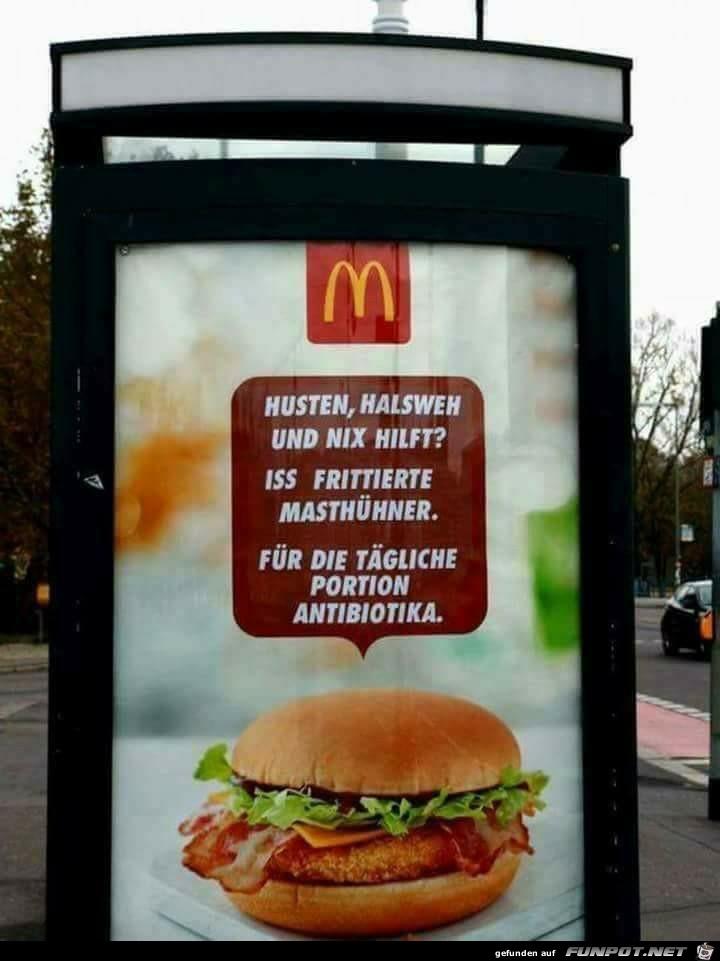 Mäces Werbung