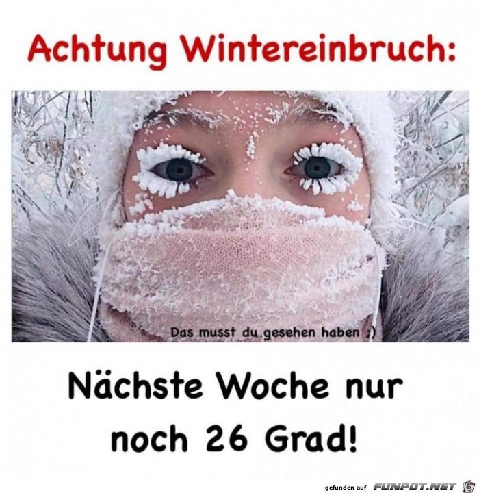 Achtung Wintereinbruch