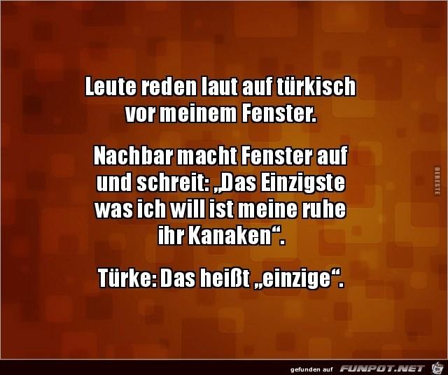 Leute reden laut auf türkisch.....