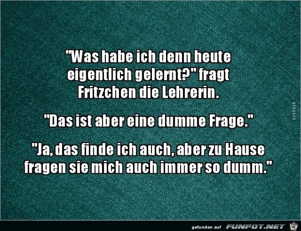 Fritzchen fragt Lehrerin:....