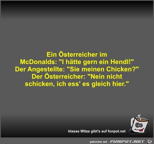 Ein Österreicher im McDonalds