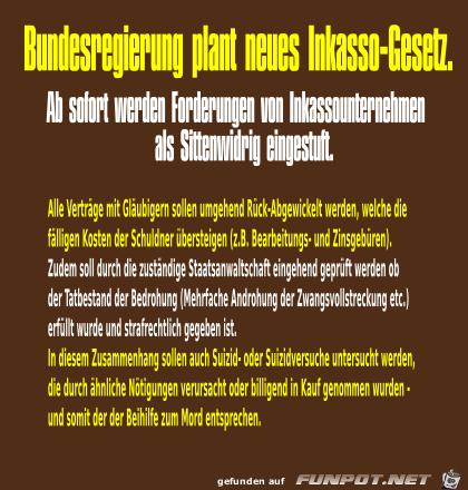 Inkasso-Gesetz